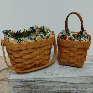 Vintage - Two Small Longaberger Baskets